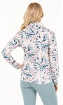 Cosy Floral Printed Cowl Neck Sweatshirt Pink/Soft Green - Gallery Image 3