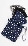 3 Pack Double Layer Cotton Face Coverings With Pouch Navy White Black - Gallery Image 1