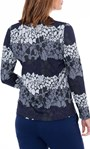 Anna Rose Knitted Top Navy/Blue/Grey - Gallery Image 3