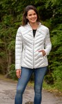 Quilted Short Jacket Ivory - Gallery Image 1