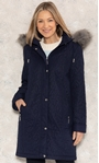 Anna Rose Longline Quilted Parka Coat Midnight - Gallery Image 2