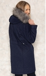 Anna Rose Longline Quilted Parka Coat Midnight - Gallery Image 3