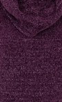 Anna Rose Cowl Neck Chenille Top Purple - Gallery Image 3