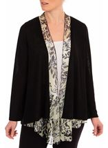 Anna Rose Chiffon Trim Knitted Cover Up