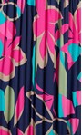 Floral Print Pleated Dress Navy/Pink - Gallery Image 3