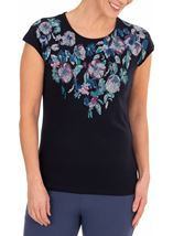 Anna Rose Placement Printed Top
