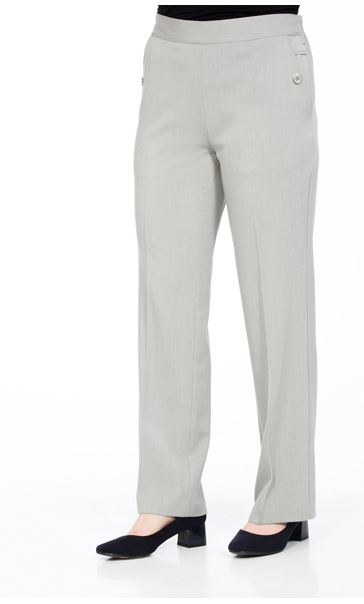 Anna Rose 27 Inch Straight Leg Trousers Grey