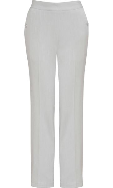 Anna Rose 27 Inch Straight Leg Trousers Grey - Gallery Image 3