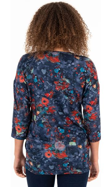 Printed And Embellished Tunic Blues - Gallery Image 2