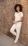 Cosy Embellished Joggers Stone - Gallery Image 5