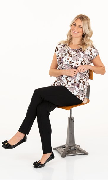Supersoft Floral Print Short Sleeve Top