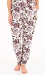 Supersoft Floral Print Lightweight Joggers Ivory Floral - Gallery Image 1