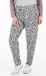 Super Soft Brushed Animal Print Joggers Grey/Lavender - Gallery Image 2