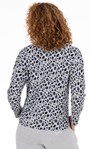 Supersoft Animal Print Cowl Neck Lounge Top Blue/Grey Animal - Gallery Image 2