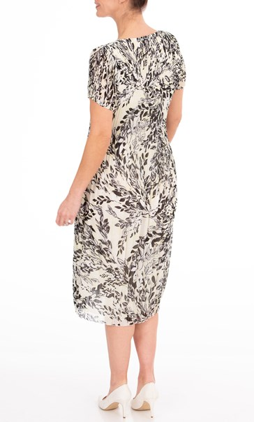 Anna Rose Printed Pleat Midi Dress