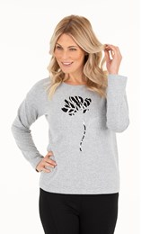 Cosy Long Sleeve Embellished Top