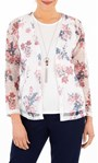 Anna Rose Top And Cover Up Set With Necklace Ivory/Pink - Gallery Image 1