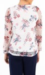 Anna Rose Top And Cover Up Set With Necklace Ivory/Pink - Gallery Image 2