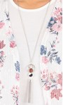 Anna Rose Top And Cover Up Set With Necklace Ivory/Pink - Gallery Image 3