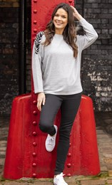 Cosy Animal Panel Raglan Top