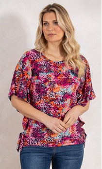 Multi Print Top With Side Ties