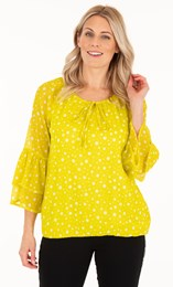 Spotted Crinkle Chiffon Top