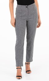 Patterned Straight Leg Trousers