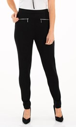 Slim Leg Pull On Ponte Trousers