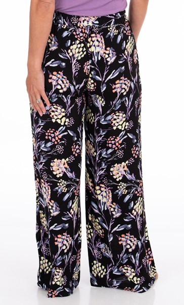 Floral Printed Pull On Trousers