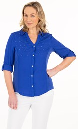 Embellished Fitted Shirt
