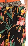 Floral And Animal Print Trousers Black/Sunflower/Red - Gallery Image 3