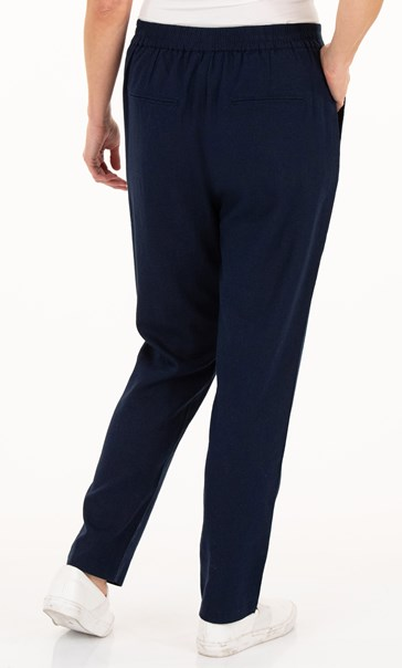 Anna Rose Linen Blend Tapered Trousers