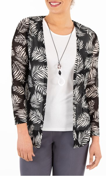 Anna Rose Top And Cover Up Set With Necklace Black/Ivory