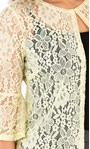 Three Quarter Sleeve Lace Cover Up Soft Lemon - Gallery Image 3