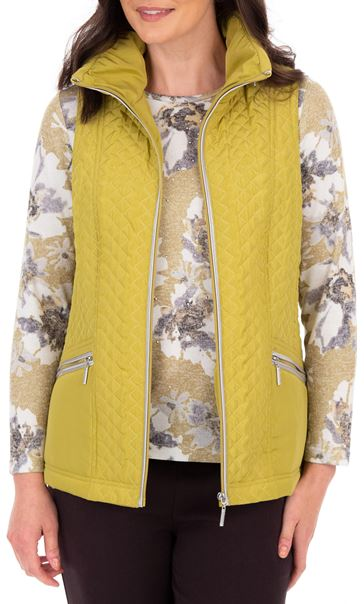 Anna Rose Quilted Gilet Lime