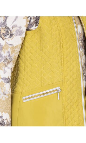 Anna Rose Quilted Gilet Lime - Gallery Image 4