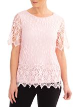 Anna Rose Lace And Crochet Top