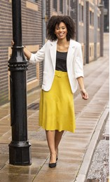 Suedette Belted Midi Skirt