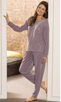 Supersoft Brushed Joggers Lavender - Gallery Image 5