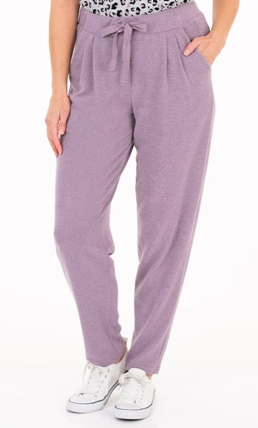 Supersoft Brushed Joggers - Purple