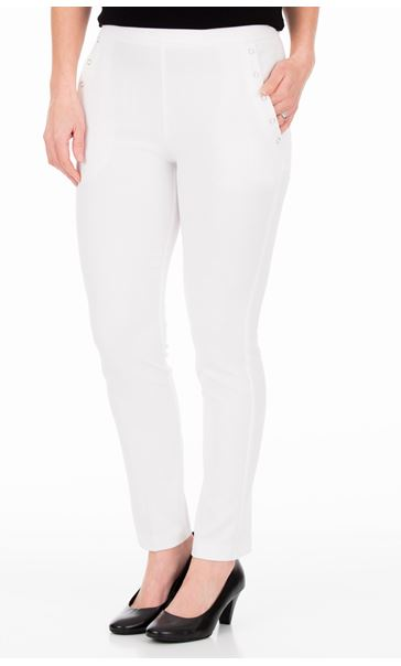 Anna Rose Slim Leg Trousers 27 Inch Ivory