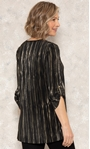 Anna Rose Pleated Top With Necklace Black/Gold - Gallery Image 3