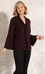 Anna Rose Shimmer Tie Top Red/Black - Gallery Image 1
