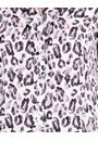 Anna Rose Animal Print Blouse With Necklace Ivory/Black/Dusty Pinks - Gallery Image 3