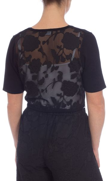 Short Sleeve Embellished Cover Up Black - Gallery Image 2