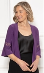 Anna Rose Lace Trim Cover Up Purple - Gallery Image 1