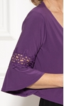 Anna Rose Lace Trim Cover Up Purple - Gallery Image 4