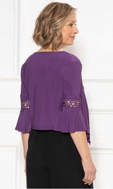 Anna Rose Lace Trim Cover Up