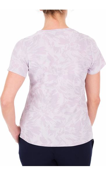 Anna Rose Textured Short Sleeve Top Lilac - Gallery Image 2