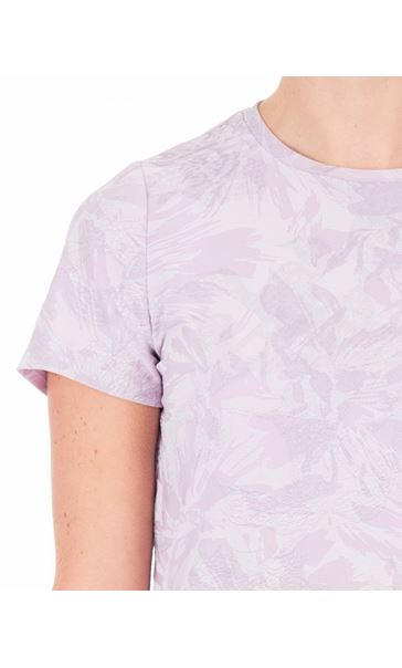 Anna Rose Textured Short Sleeve Top Lilac - Gallery Image 3